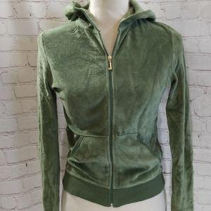 Juicy Couture Green Zip Up Robertson Hoodie